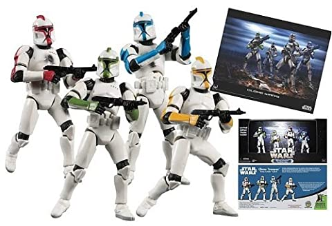 Star Wars Clone Trooper figures Troop Builder 4 pack
