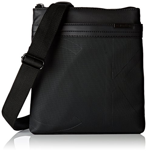 Calvin Klein GREG0RY Flat Crossover G, Sac Homme, Noir (Black), 3x27x24 cm