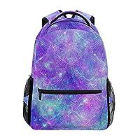 Hunihuni Fantasy Galaxy Mermaid Durable Backpack College School Book Shoulder Bag Daypack for Boys Girls Man Woman