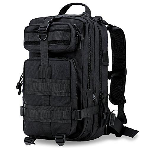 Free Soldier Herren Radhose Tactical Taschen 1000D Nylon Camping Wandern Bergsteigen Rucksack Schwarz 30-45L (Schwarzer Nylon-drawstring-rucksack)