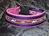 Hunde Halsband Einhorn pink