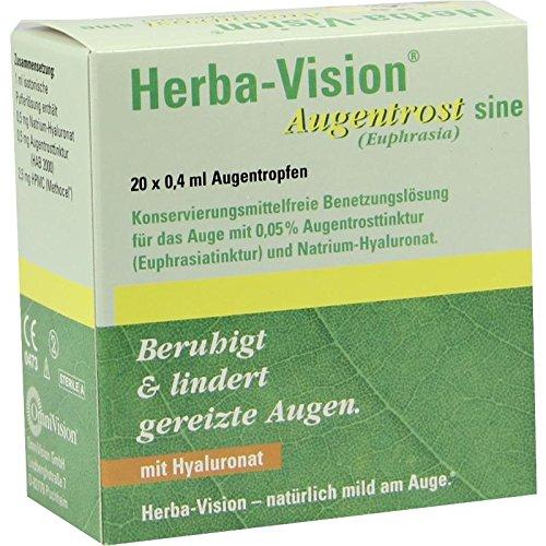 Herba-Vision Augentrost sine, 20x0,4 ml Einzeldosis-Ophtiolen