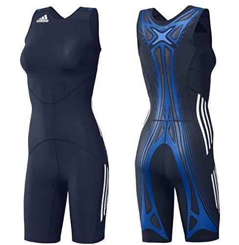 Adidas Adipower WR Powerweb Suit Wrestling Ringen Ringeranzug Damen Singlet blau (Wrestling Womens Singlet)