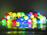 Glimmer Lightings Made In India Multicolour Candy Ball LED Light 11 Meters Diwali Special Home Decoration Gifts Rice Copper Wire Lights