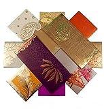 shagun Geschenk Umschlag (50Stück + 10Gratis) sortiert Farbe Designs Geld Halter Karte Fancy Paket für Weihnachten Diwali Ostern Geburtstag Hochzeit Jahrestag-Einladung Briefumschläge
