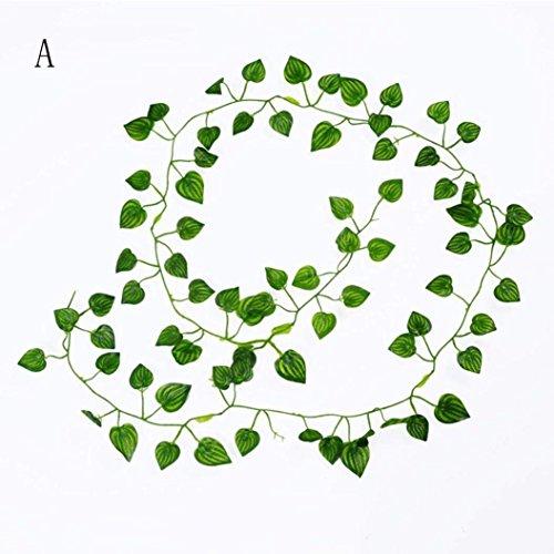 Amacok Ivy Blätter 122,1m Künstliche Fake Blättern Zum Aufhängen Vines Blätter Girlande Home Garten Poison Ivy Kostüm B Grün
