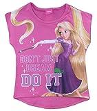 Disney Princess Tangled Rapunzel Manga Corta T Shirt (Rosado, 4 Años)