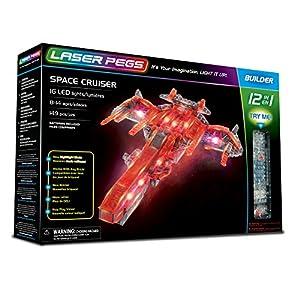 Laser Pegs 12010 Space Cruiser 12 en 1 Set de construcción