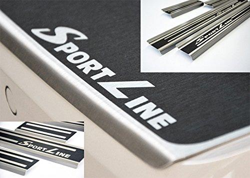 WGS SparSET SPORTLINE Ladekantenschutz Einstiegsleisten Lackschutz mit ABKANTUNG Titan auf AluNox® (1250-800)