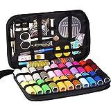 KIT DE COSTURA, 97 piezas Accesorios de Costura - 24 Colores para Kit de Costura de Viaje, Kit de Costura de Principiantes, Emergencia, Campistas y Madre