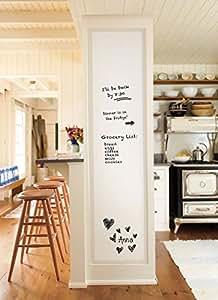 tableau blanc autocollant effa able sec 45cm x 200 cm en rouleau fourni avec 3 marqueurs. Black Bedroom Furniture Sets. Home Design Ideas