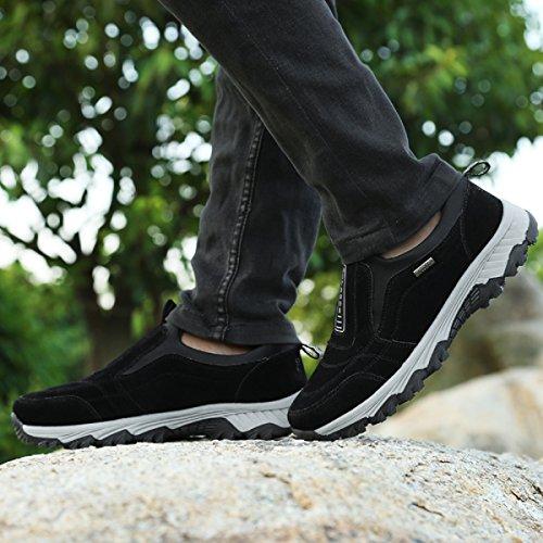 NEOKER Scarpe Casual Uomo Ginnastica Sportive All'aperto Basse Trekking Slip On Comfort Sneakers Nero Grigio Blu 39-45 Nero