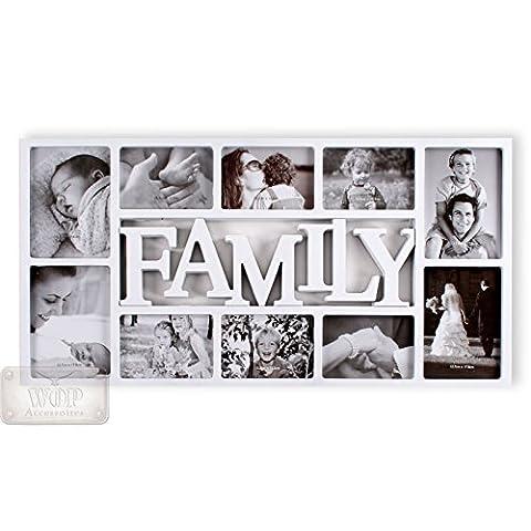 Fotorahmen Family für 10Fotos Weiß Bild Bilderrahmen Deko