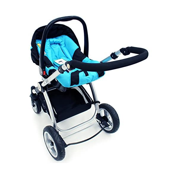i-Safe System - Ocean Trio Travel System Pram & Luxury Stroller 3 in 1 Complete With Car Seat iSafe  7