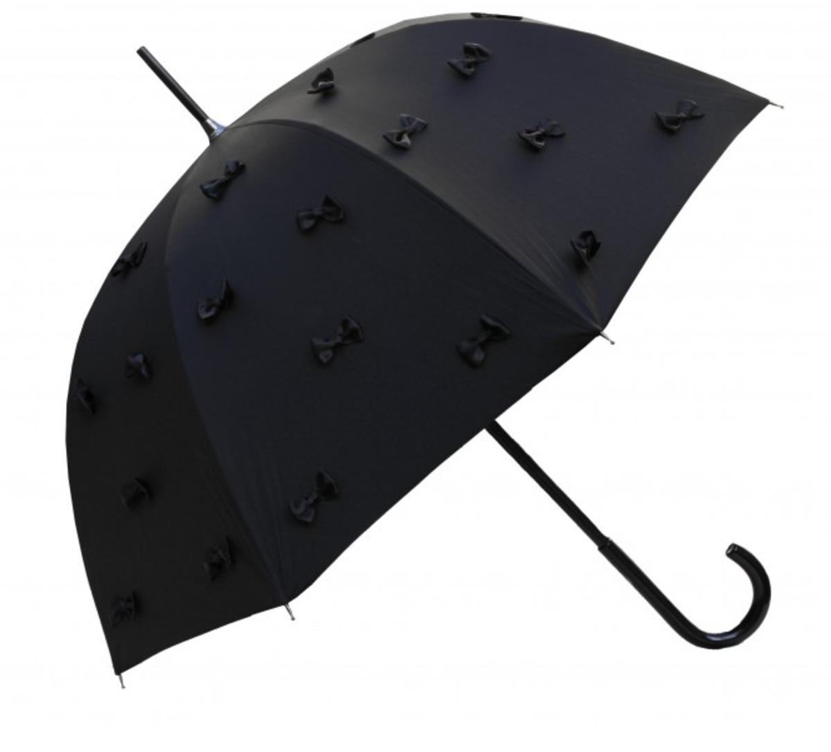Guy De Jean Designer Umbrella Black with attached loops - Umbrella - Elegant and Extravagant - Made
