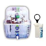 AQUAULTRA Plastic Ro UV UF Tds Alkaline Water Purifier, 14 L , White