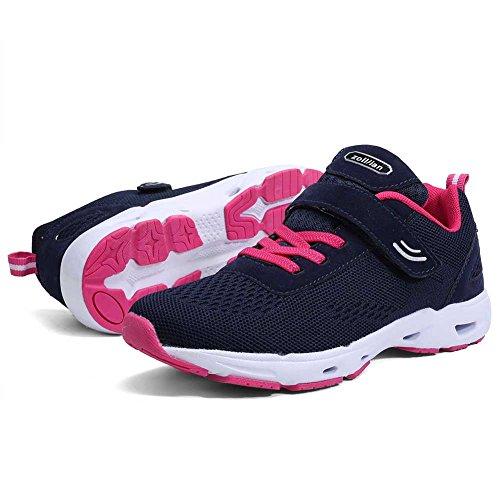 Baskets Running Chaussures de Course Sports Fitness Gym Athlétique Homme Femme Sneakers Bleu-rouge