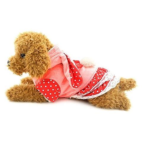 Ranphy Lovely chaud Apparel Puppy Vêtements en velours Manteau d'hiver Robe de chien Chihuahua Capuche Bunny Jupe Costume