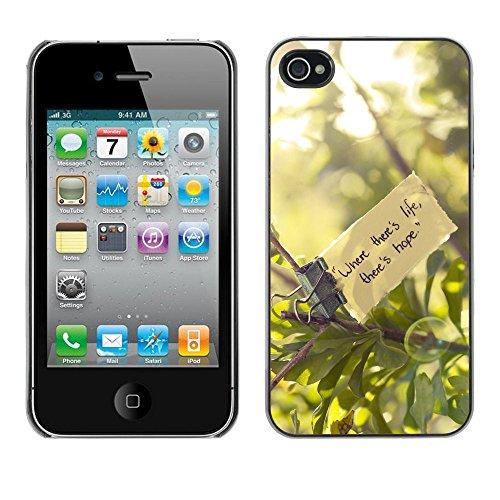 J-Case / Protettiva Custodia CASE COVER - Dove cè vita - iPhone 4 / 4S