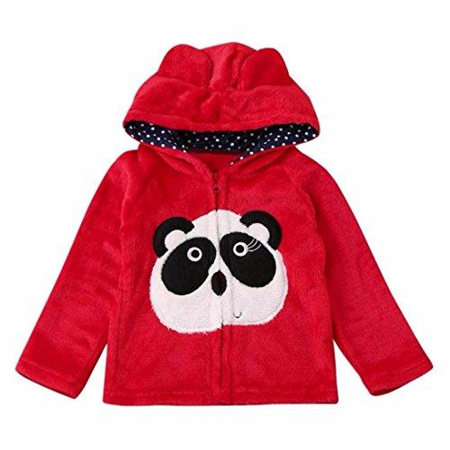 Baby Cartoon Mantel mit Kapuze, elecenty Kinder Jungen Mädchen Winter Warm Pullover Umhang Tops, baumwolle, rot, 4-5 (2017 Sevens Kostüme)