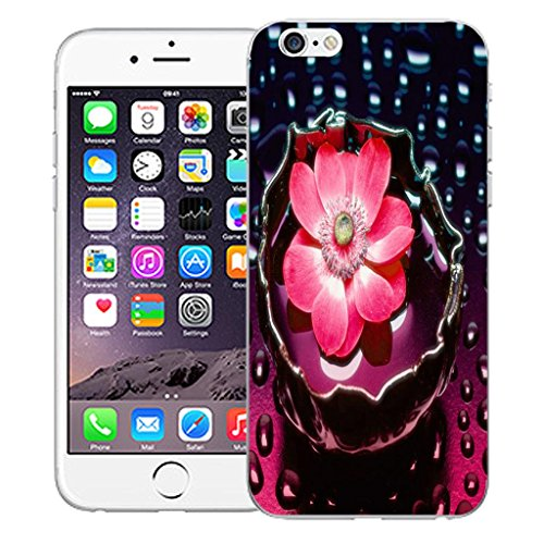 "Nouveau iPhone 6 4.7"" inch clip on Dur Coque couverture case cover Pare-chocs - prestine Motif avec Stylet pink water flower"