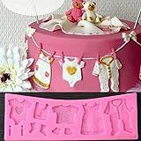 Upsky 3D-Baby-Dusche Silizium E Fondant M Dual-LD Kuchen dekorieren Schokolade Backform Werkzeug