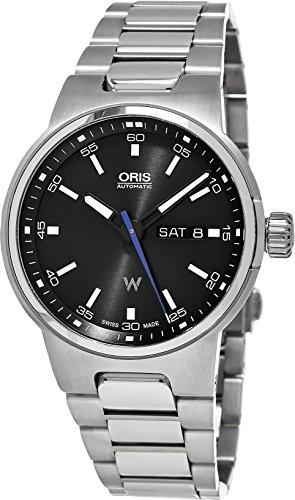 Oris Williams F1Team Jour Date automatique cadran noir acier inoxydable Montre Homme 0173577164154–0782450