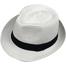 Leisial Enfant Panama Chapeau de Paille pour été Loisir Voyage Chapeau de Soleil  Anti-Soleil c494200a3b5