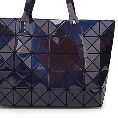 Ms. Umhängetasche Handtasche Gesteppte Geometrisches Mosaic blue