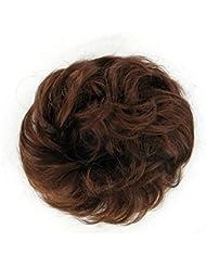 chouchou cheveux châtain foncé cuivré ref: 17 en 31