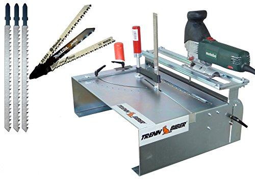 Sierra ingletadora XXL + Bosch Makita + 3 hojas sierra