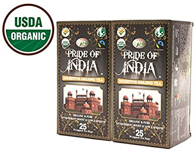 Pride Of India thé oolong organique, 25 comptage (2pack)