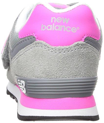 New Balance Unisex-Kinder K_574v1 Low-Top Mehrfarbig (Grey/Pink 026Grey/Pink 026)