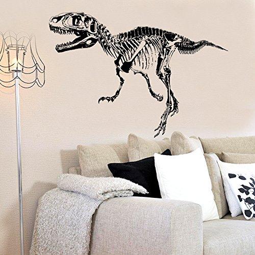 urier fossil moderne Kunst Wandaufkleber schwarz Dinosaurier Skelett Silhouette Wandaufkleber Schlafzimmer Wohnzimmer Dekoration Abziehbilder 50x70cm ()