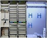 TM: 12073: Hager Zählerschrank 1x 3.HZ Zähler + 2x Verteiler + 1x Multimediafeld 2-reihig ZB35S