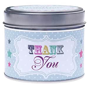 Thank You Bougie Boîte en métal de la Country Candle Company