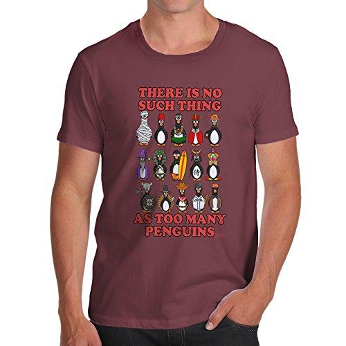 TWISTED ENVY  Herren T-Shirt burgunderfarben