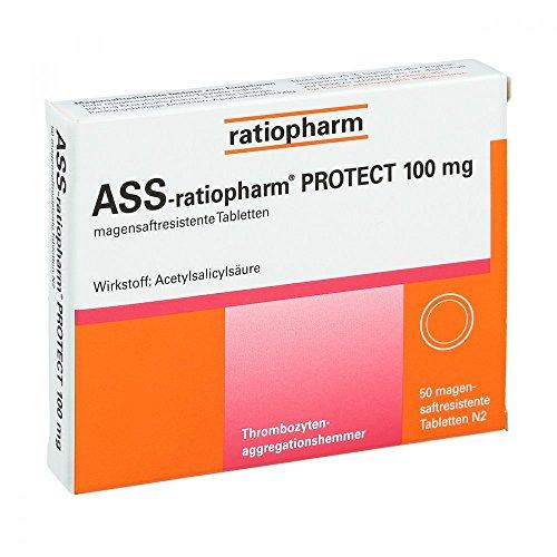 ASS-ratiopharm Protect 100 mg Tabletten, 50 St.