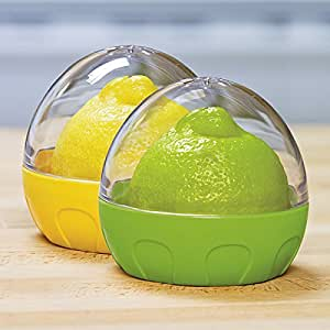 Citrus Keeper - Set of 2 | Lemon Keeper and Lime Keeper, Citrus Wedge Keeper, Citrus Saver, Lemon Saver, Lime Saver, Citrus Container