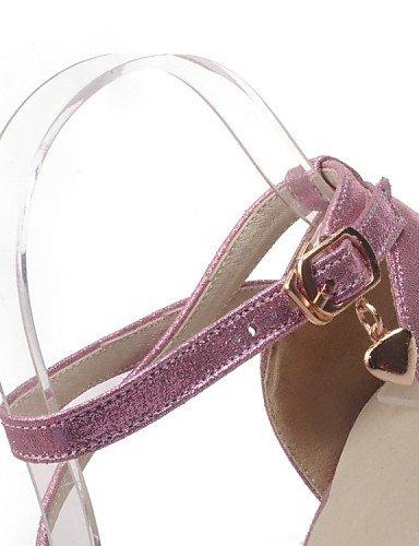 UWSZZ IL Sandali eleganti comfort Scarpe Donna-Sandali-Matrimonio / Ufficio e lavoro / Formale / Casual / Serata e festa-Tacchi-A stiletto-Materiali personalizzati-Rosa / golden
