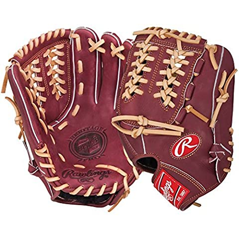 Rawlings Men's Heritage Pro Pitcher/Infield Glove, Left Hand, 11.75-Inch, Red