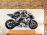 adesivo murale adesivo da parete New Moto Gp Valentino Rossi Wall Art Sticker Moto Gp Poster Motorcycle Racing decal for boys bedroom