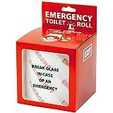 Fun lot de 2 rouleaux de papier toilette cas d urgence en cas d urgence
