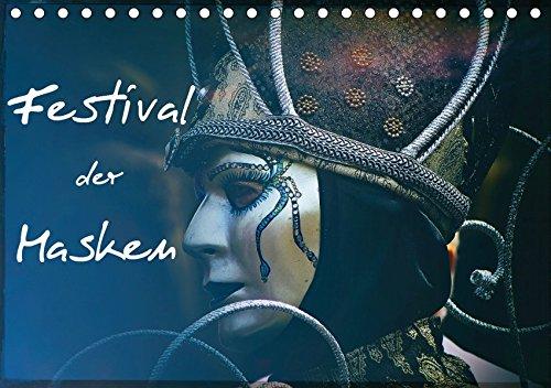 (Tischkalender 2019 DIN A5 quer): Kunstvolle venezianische Masken (Monatskalender, 14 Seiten ) (CALVENDO Menschen) (Venedig Festival Kostüme)