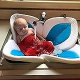 Baby Bade Bett Wanne blühende Bad Blumen Badewanne für Baby blühendes Wannen Bad für Baby Säuglings Lotus Baden Bett für 0-6 Monate Baby (Himmelblau)