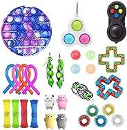 AM ANNA Sensory Fidget Toys Set,25pcs Fidget Toys for Kids and Adults,Toys Set Sensory Toys for Autism, ADHD,