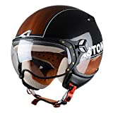 Casco Moto Jet KSR grafica Break Wood Astone (XS)