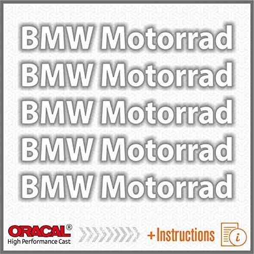 5pcs ADESIVI BMW Motorrad F650GS F 650 GS F650 F700GS 700 F700 F800GS 800 F800 R1150GS R1150 1150 R1200GS R1200 1200 R1200R R1200 R S1000XR S 1000 XR S1000 R1200RT R1200 RT (Bianco)