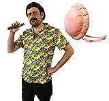 ILOVEFANCYDRESS Costume Pablo Escobar con Ventre Gonfiabile Perfetto per I Film TV Signore Signore Abito Fantasia (Small)