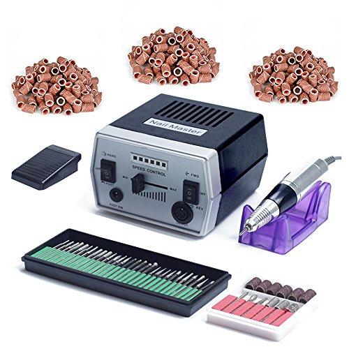 Trapani e accessori elettrici per manicure professionale elettrica a basso rumore e con vibrazioni ridotte di trapano chiodo kit fresa per unghie 30.000 giri nero